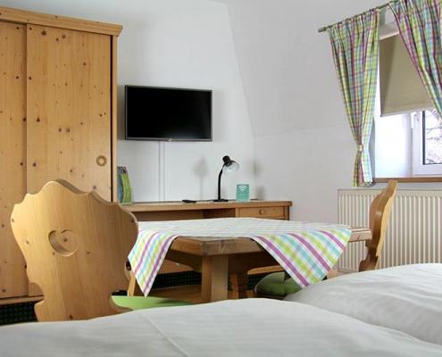 Pension Bad Windsheim, Gashof Zum goldenen Hirschen, Zimmer Apfel, TV