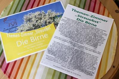 Pension Bad Windsheim, Gashof Zum goldenen Hirschen, Zimmer Birne
