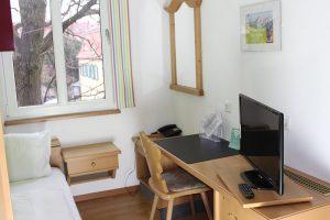 Pension Bad Windsheim, Gashof Zum goldenen Hirschen, Zimmer Apfel, Einzelzimmer, TV